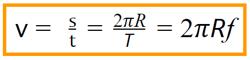 การเคลื่อนที่แบบวงกลม-สูตร-อัตราเร็วเชิงเส้น